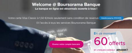 Le code promo du compte Welcome de Boursorama